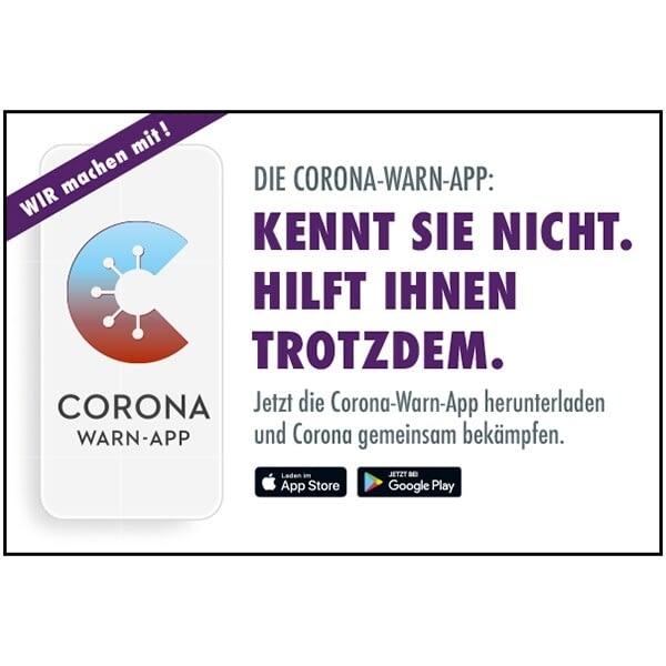 Corona Warn-App Motiv 08: Kennt Sie nicht. Hilft Ihnen trotzdem