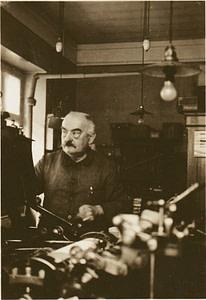 Christian Layer Firmengründer der Druckerei Layer