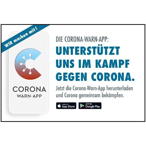 Corona Warn-App Motiv 01 Unterstützt uns im Kampf gegen Corona